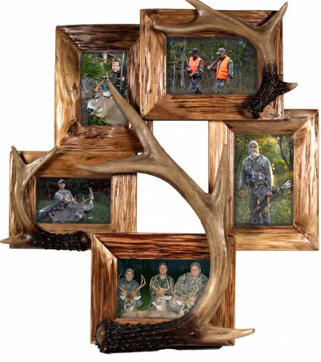 Deer Antler Five Photo Frame