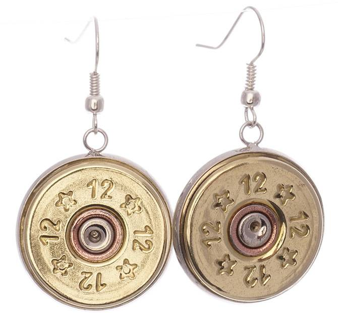 12 Gauge Gold Dangle Earrings