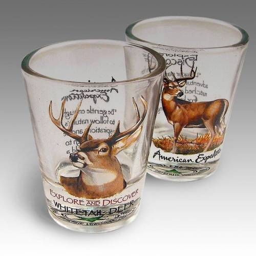 Whitetail Deer Shot Glass Set